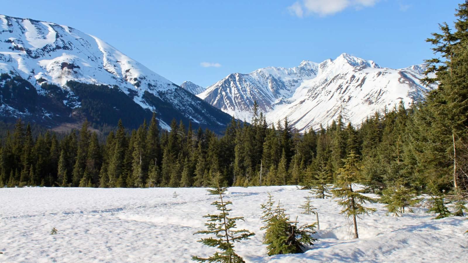Early spring in Girdwood, Alaska