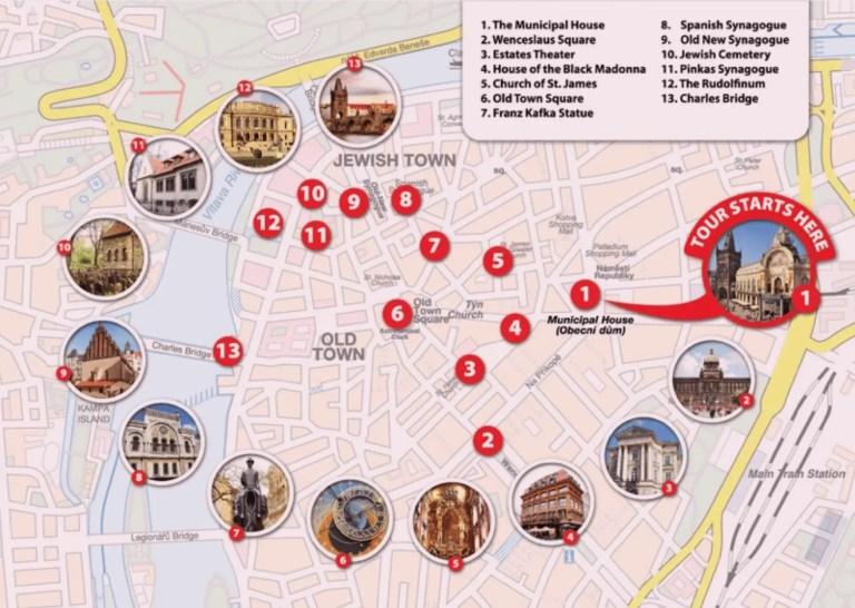 Tour4Charity Prague Route Map
