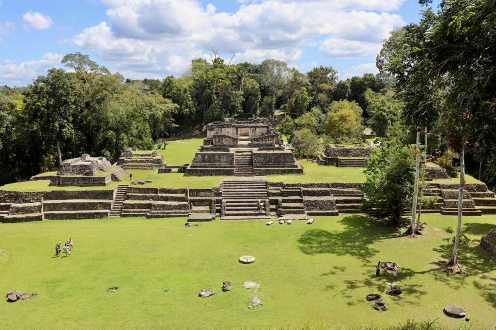 View from a pyramid at Caracol. Make sure to add sturdy shoes to your Belize packing list so you can explore Mayan ruins!