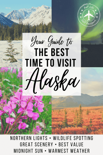 Article graphic with four photos of Alaska in different seasons