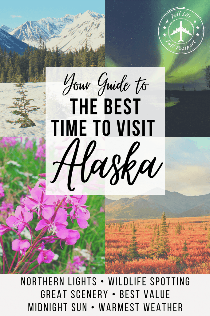 Curious about the best time to visit Alaska? Check out this guide to the best time to visit for the northern lights, wildlife, weather, and more!