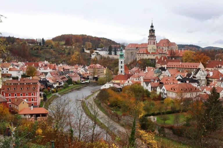 View of town of Cesky Krumlov