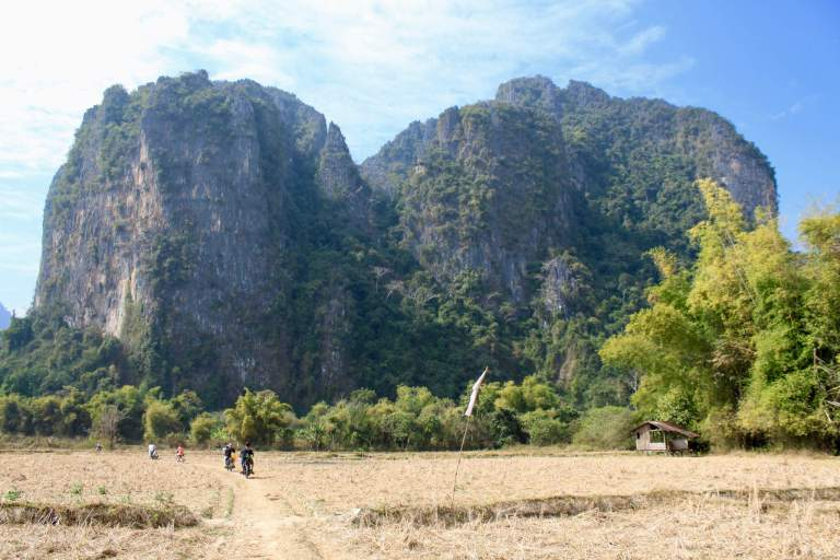 Mountains and countryside outside of Vang Vieng, Laos