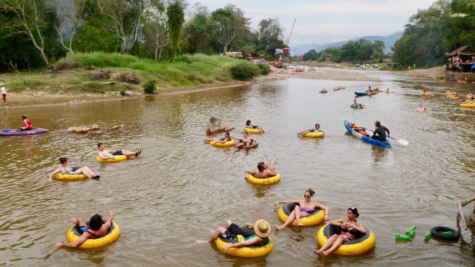 Tubers in the Nam Song River