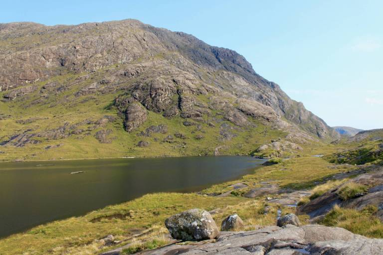 The narrow entrance to the valley where Loch Coruisk lies