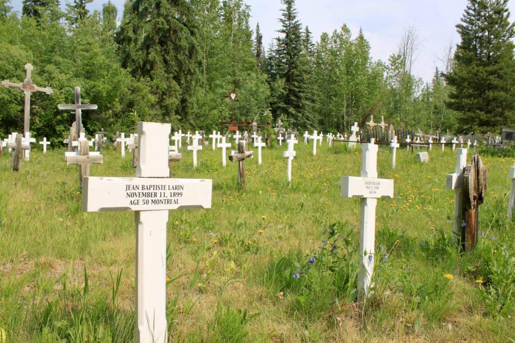 White crosses of the Gold Rush cemetery