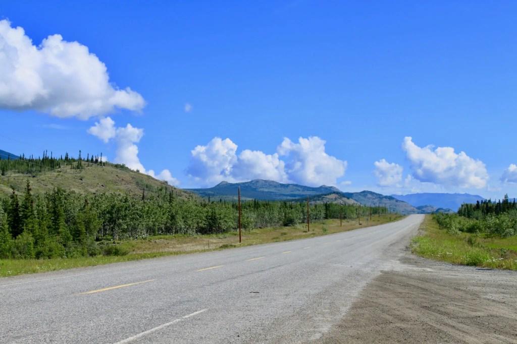Stretch of the Alaska-Canada highway