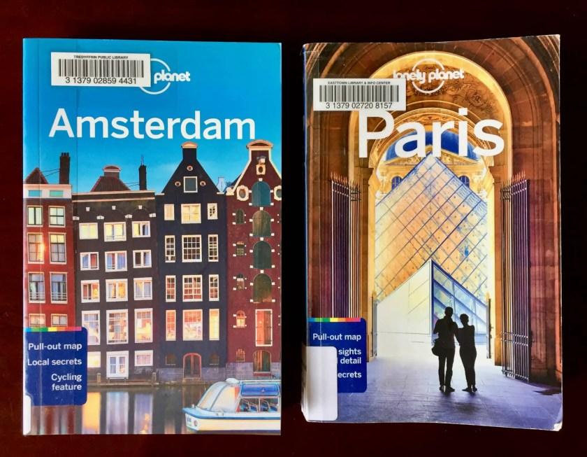 Amsterdam and Paris guidebooks