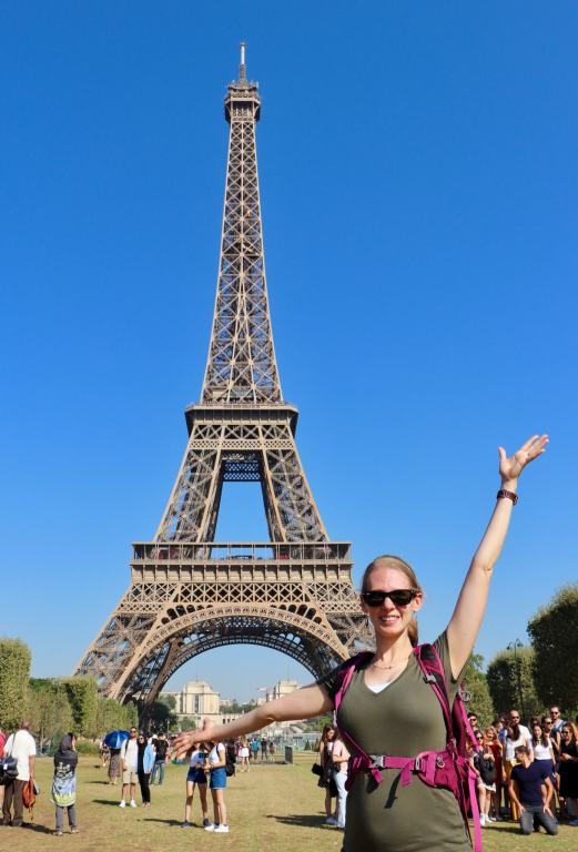 Gwen at the Eiffel Tower