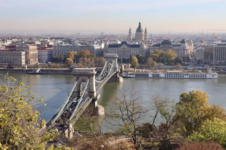 The Chain Bridge and St. Stephen's Basilica from the Royal Palace