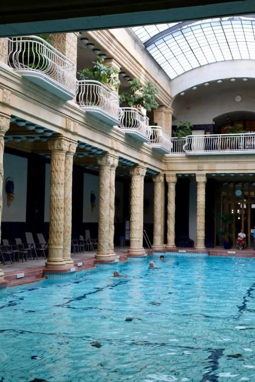 Lap pool in the Gellert Baths