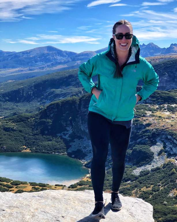 Michelle at the Seven Rila Lakes in Bulgaria