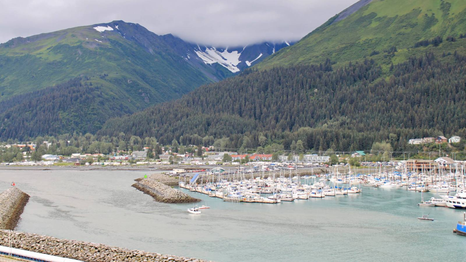 Marina and town of Seward, Alaska