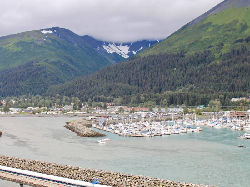 Marina and town of Seward, Alaska