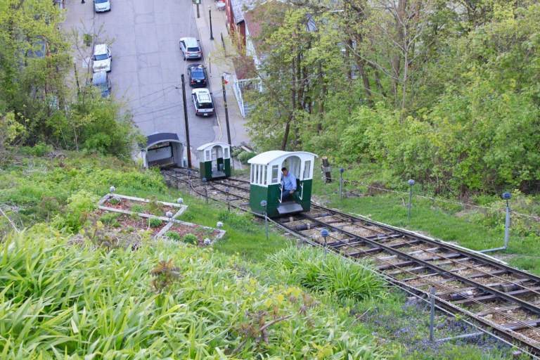 Tram cars on the Fenelon Place Elevator