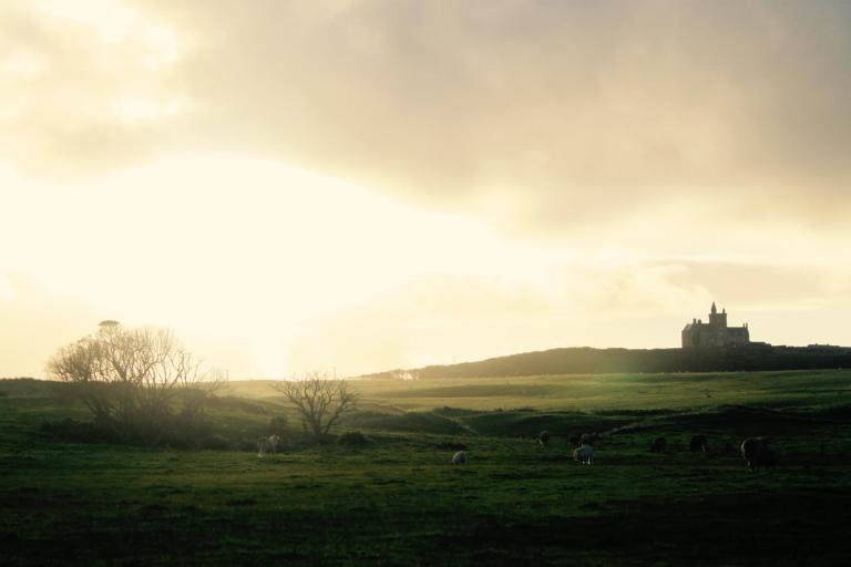 Castle at sunset on the Mullaghmore Peninsula
