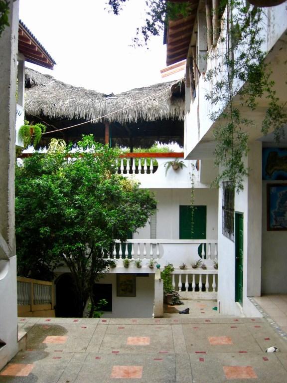 Interior courtyard of Hostal Tuzco