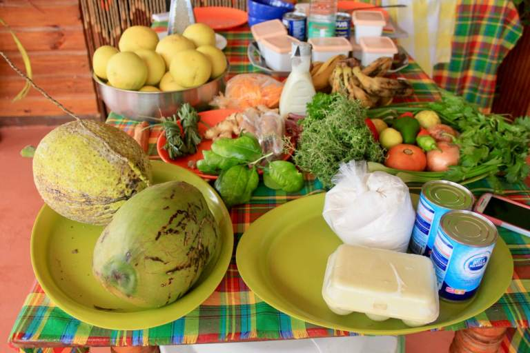 Colorful, fresh ingredients for the cooking class