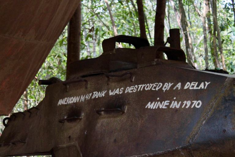 Captured US military tank