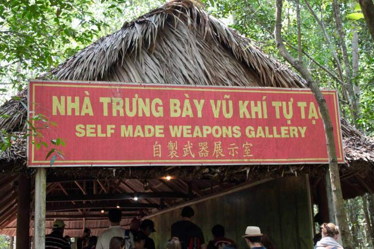 Sign for the self-made weapons gallery