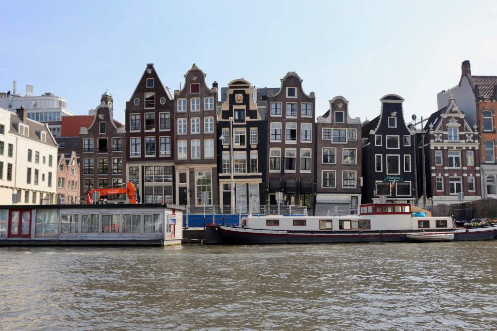 Crooked houses along the Amsterdam canals
