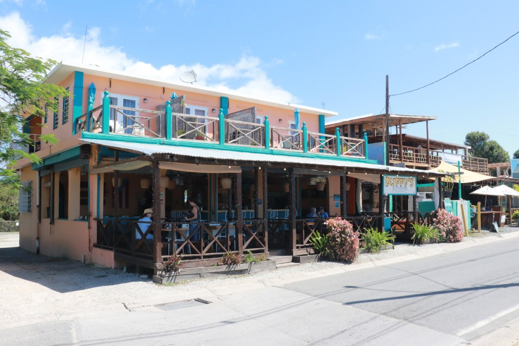Exterior of Duffy's beach bar on Vieques