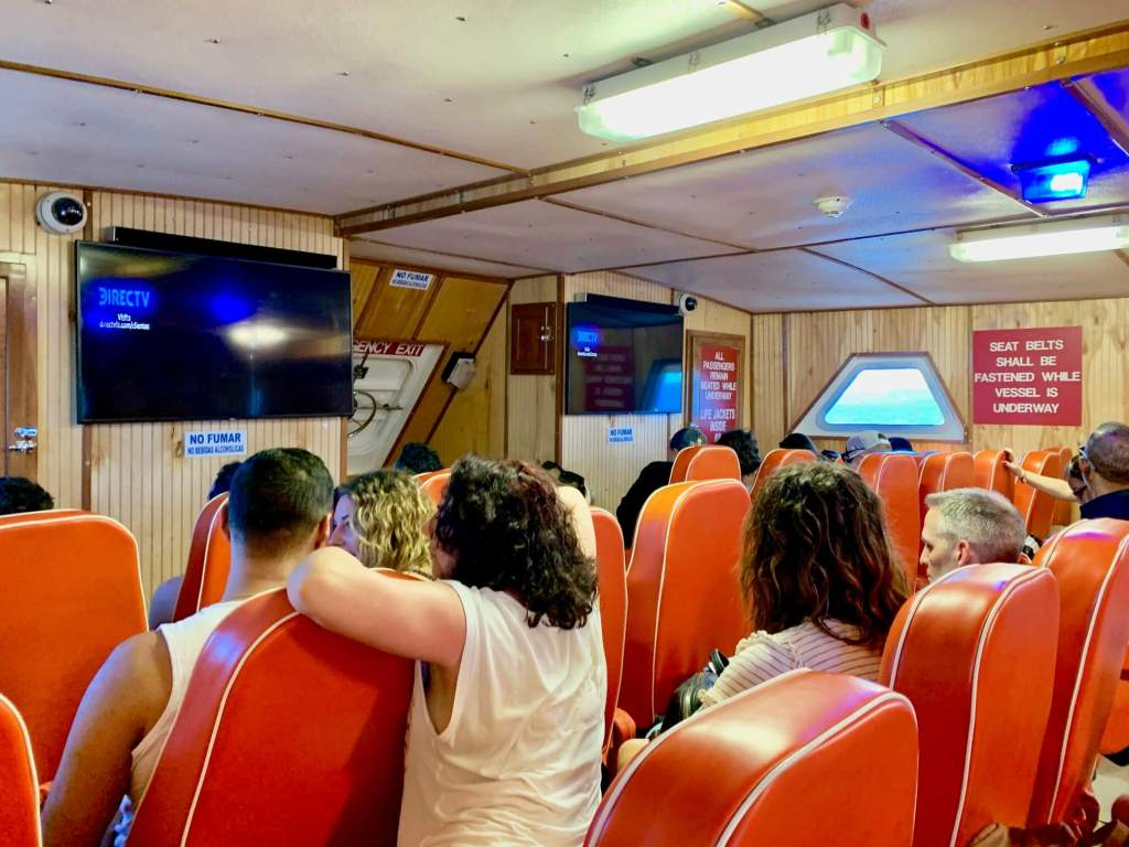 Interior of our ferry ride to Vieques