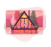 Airbnb Gift Card design
