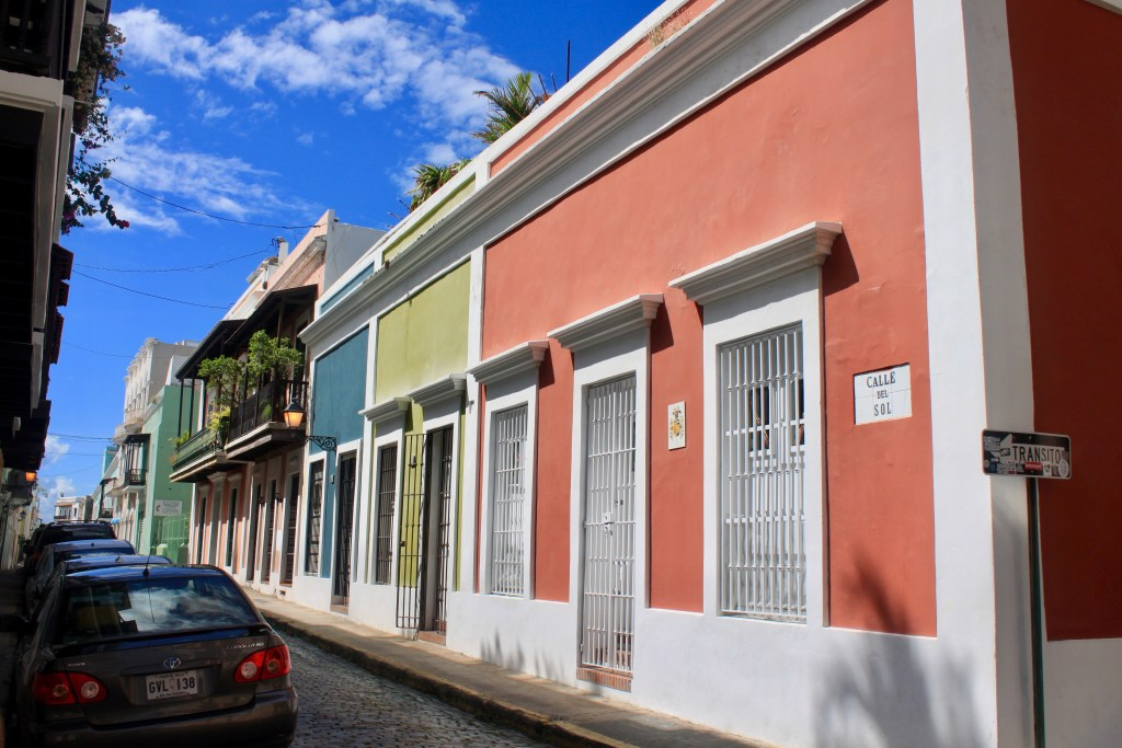 Colorful buildings on the streets of Old San Juan