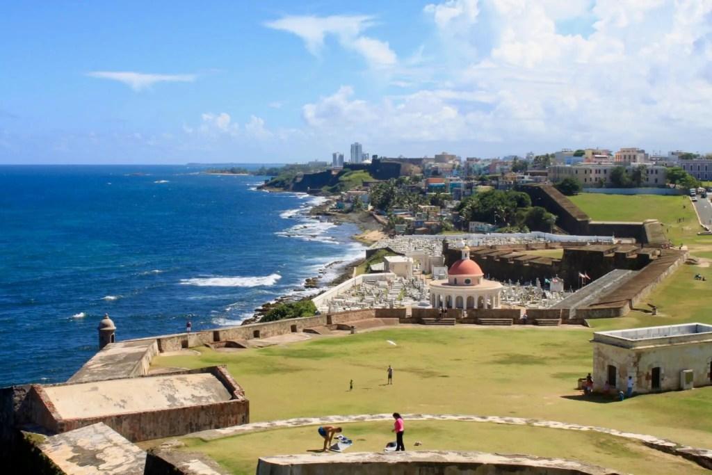 Sprawling view of San Juan from El Morro