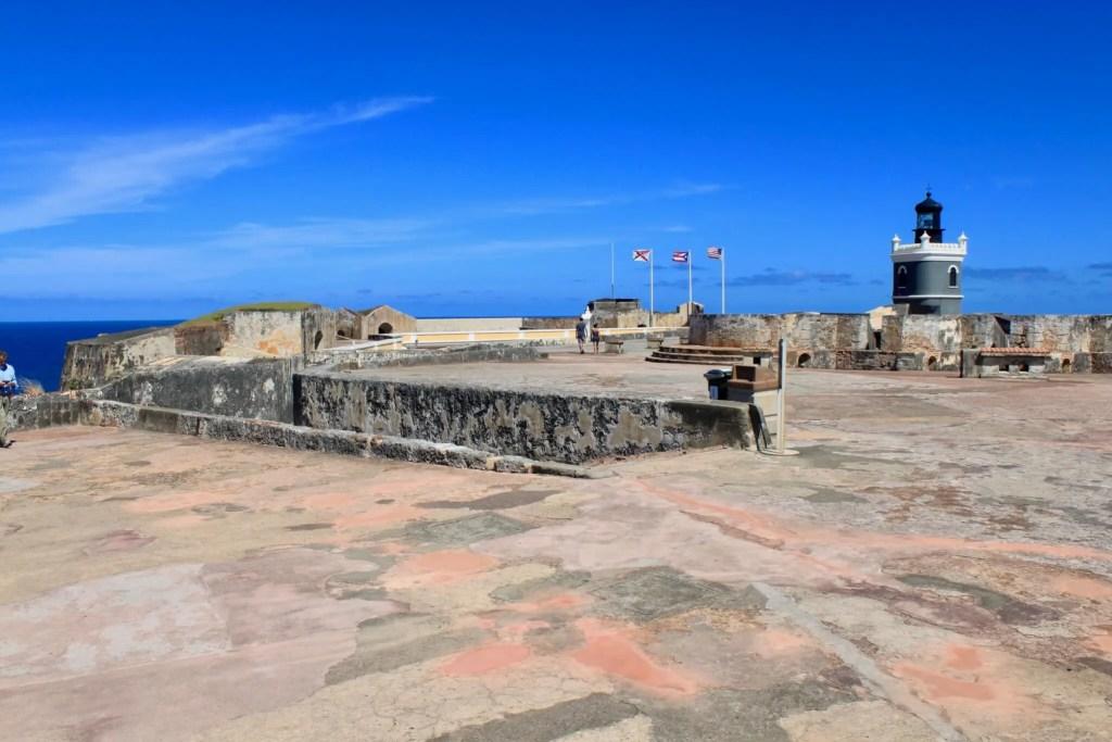 Upper battlements of El Morro