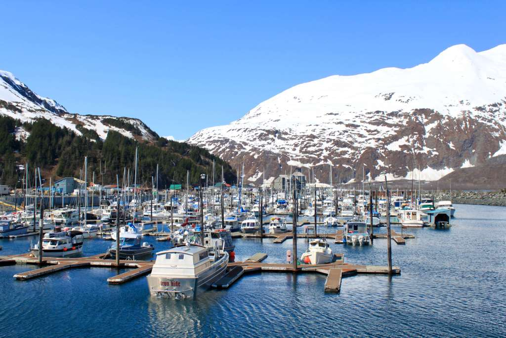 The marina at Whittier, a worthy detour on your Alaska itinerary