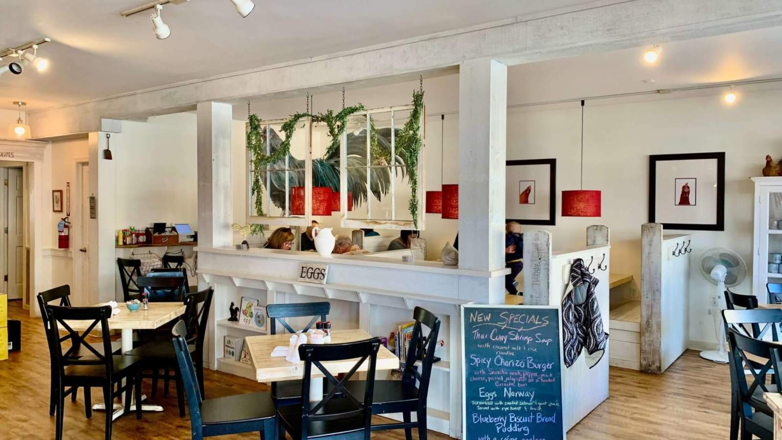 A nearly empty Egg restaurant in Rehoboth Beach during the off-season
