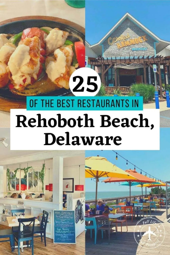 Visiting the Delaware beaches and wondering where to eat? Check out this guide to the best restaurants in Rehoboth Beach, Delaware!