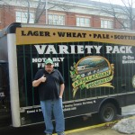 Evan standing in front of the Appalachian Beer truck - PBW 09