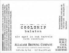 Allagash Coolship Balaton
