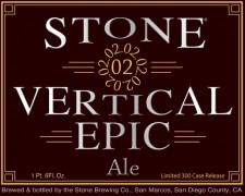 Stone 02.02.02 Vertical Epic Ale