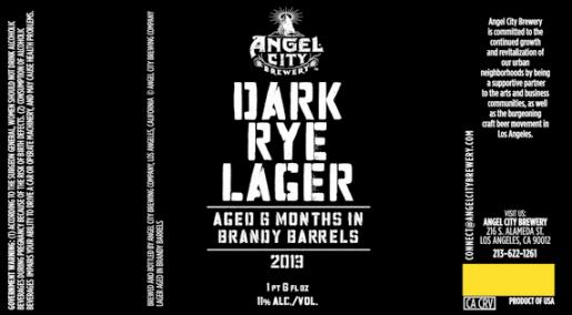 Angel City Dark Rye Lager Brandy Barrel