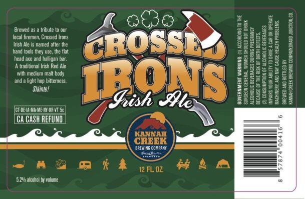 Kannah Creek Cross Irons Irish Ale