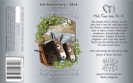 Piney River Mule Team India Pale Ale