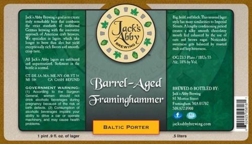 Jacks Abby Barrel Aged Framinghammer