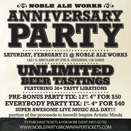 Noble Ale Works 4th Anniversary