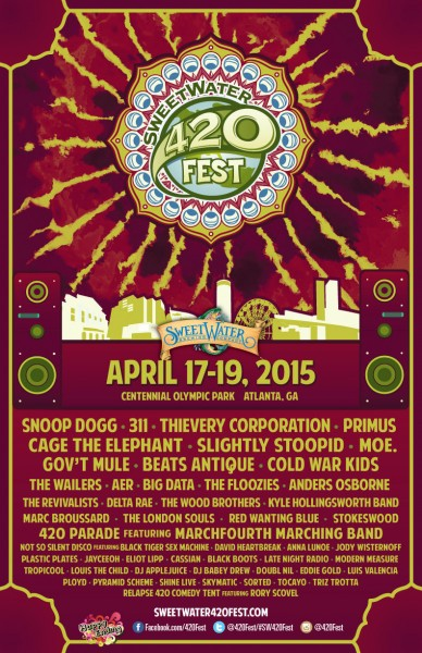 SweetWater 420 Fest 2015 Music