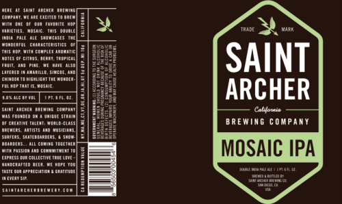 Saint Archer Mosaic IPA