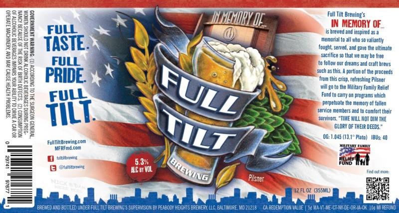 Full Tilt Brewing - In Memory Of...