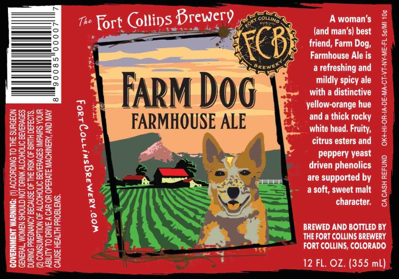 The Fort Collins Brewery - Farm Dog, Farmhouse Ale