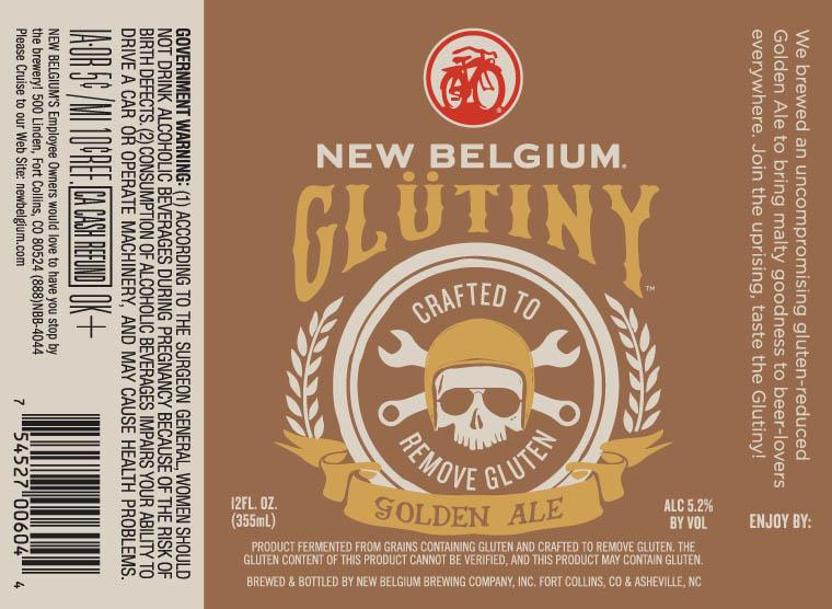 New Belgium Glutiny Golden Ale