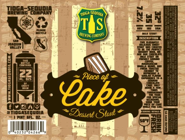 Tioga Sequoia Brewing - Piece of Cake
