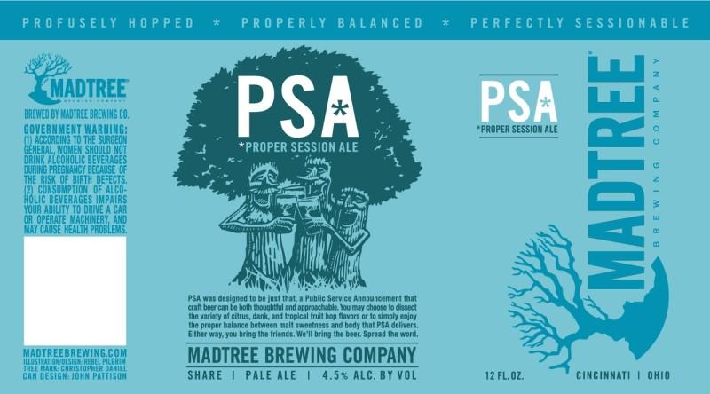 MadTree Brewing - PSA (Label)