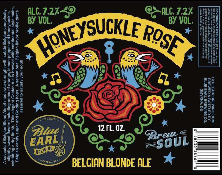 Blue Earl Brewing Honeysuckle Rose